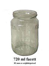 Facett 720ml - es befőttes üveg